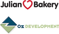 Logos for Julian Bakery and Oz Development